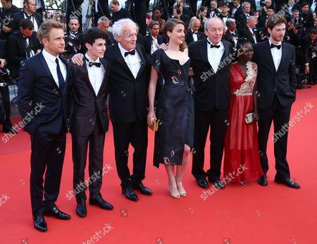 Jeremie Renier, Louka Minnella, Jean-Pierre Dardenne, Adele Haenel, Luc Dardenne, Nadege Ouedraogo and Olivier Bonnaud