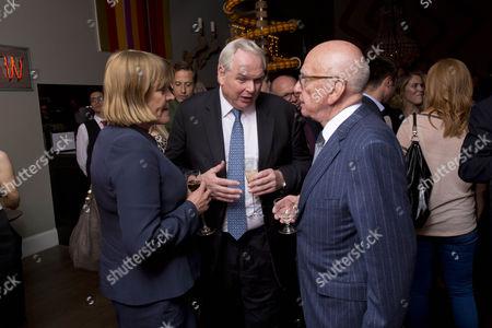 Adam Boulton and Angie Hunter and Rupert Murdoch