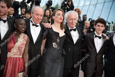 Olivier Bonnaud, Nadege Ouedraogo, Luc Dardenne, Adele Haenel, Jean-Pierre Dardenne, Louka Minnella and Jeremie Renier