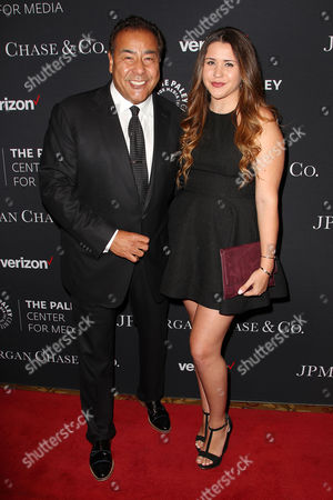 Stock Image of John Quinones with daughter