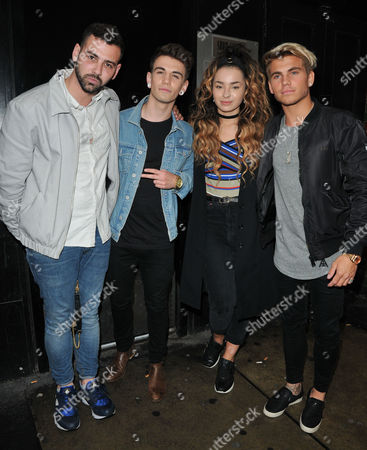 Jay Camilleri, Jake Sims, Ella Eyre and Jordi Whitworth