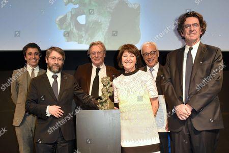 Ariel Wizman, Haim Korsia, Gerard Garouste, Martine Dassault, Yossi Gal and Luc Ferry