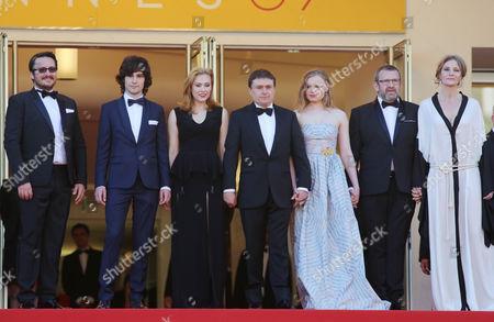 Stock Photo of Rares Andrici, Malina Manovici, Cristian Mungiu, Maria Dragus, Adrian Titieni