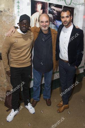 Stock Image of Daniel Kaluuya (Christopher), David Haig (Robert) and Matthew Xia (Director)