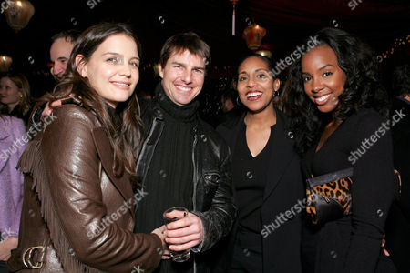 Katie Holmes, Tom Cruise, CAA's Andrea Nelson Meigs and Kelly Rowland
