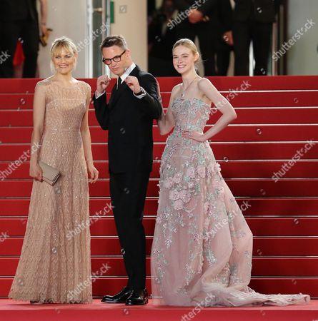 Liv Corfixen, Nicolas Winding Refn and Elle Fanning