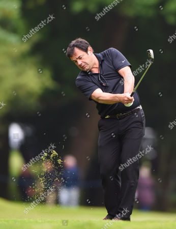 Will Carling along the fairway to the 16th Green at Wentworth during the Celebrity Pro-Am