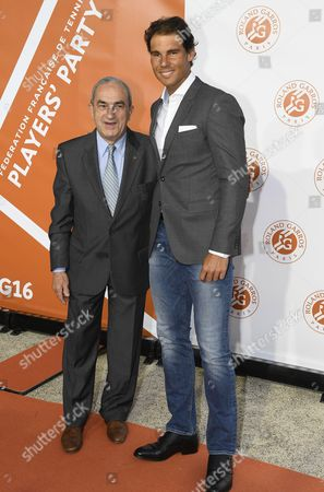 Jean Gachassin (FFT president) and Rafael Nadal