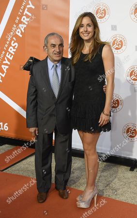 Jean Gachassin (FFT president) and Alize Cornet