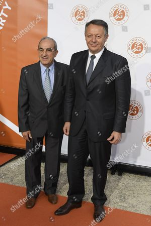 Jean Gachassin (FFT's President) and Thierry Braillard (ministry of sport)