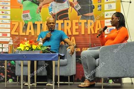The parents of Usain Bolt from Jamaica, Wellesley and Jennifer Bolt