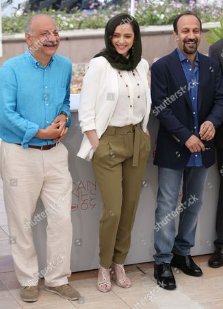 Stock Picture of Babak Karimi, Taraneh Alidoosti, Ashgar Farhadi