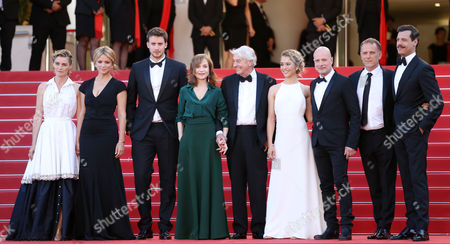 Anne Consigny, Virginie Efira, Jonas Bloquet, Isabelle Huppert, Paul Verhoeven, Alice Isaaz, Christian Berkel, Charles Berling and Laurent Lafitte