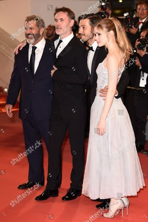 Mel Gibson, Jean-Francois Richet, Diego Luna and Erin Moriarty