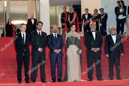 Asghar Farhadi, Shahab Hosseini, Taraneh Alidoosti and Babak Karimi