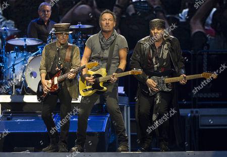 Stock Picture of Garry Tallent, Bruce Springsteen and Steven Van Zandt