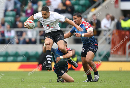 Former San Francisco 49ers player Jarryd Hayne during the HSBC World Rugby Sevens Series match between Fiji and USA in London played at Twickenham Stadium, London, on May 22nd 2016