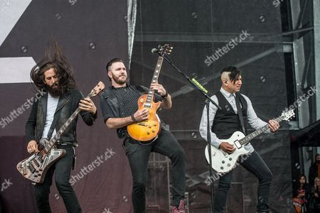 Pop Evil - Matt DiRito, Nick Fuelling, and Dave Grahs