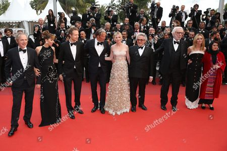 Stock Image of Mads Mikkelsen, Kirsten Dunst, George Miller, Donald Sutherland, Vanessa Paradis and Katayoon Shahabi
