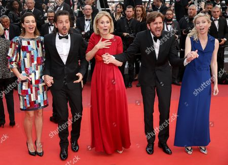 Stock Image of Celine Sallette, Diego Luna, Marthe Keller, Ruban Ostlund and Jessica Hausner