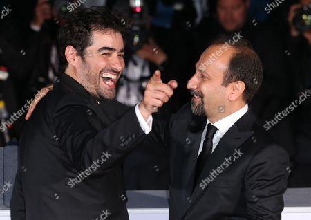 Shahab Hosseini - Best Actor - The Saleman, with Asghar Farhadi - Best Screenplay - The Salesman
