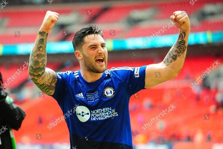 FC Halifax Town defender Matthew Brown after the FA Trophy match between Grimsby Town FC and Halifax Town at Wembley Stadium, London