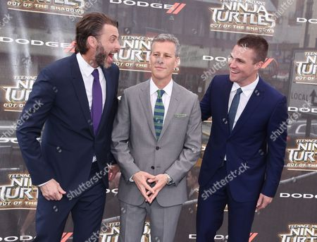 Andrew Form, Brad Fuller, and Stephen Amell
