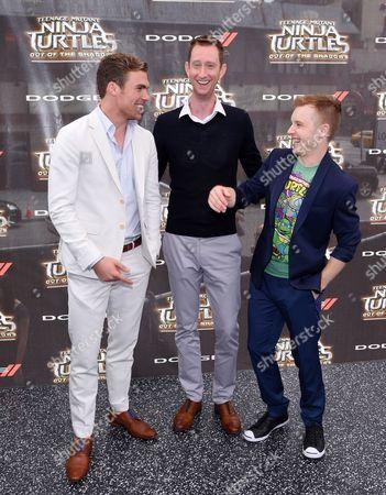 Pete Ploszek, Jeremy Howard, and Noel Fisher