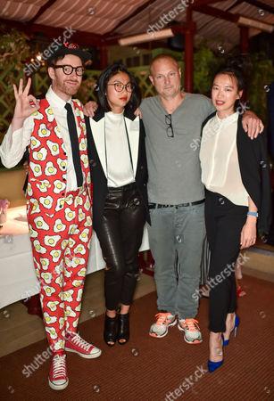 Philip Colbert, Mimi Xu, Juergen Teller and Rosey Chan