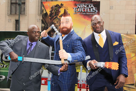 "Gary Anthony Williams, Stephen "" Sheamus "" Farrelly and Titus O'Ne"