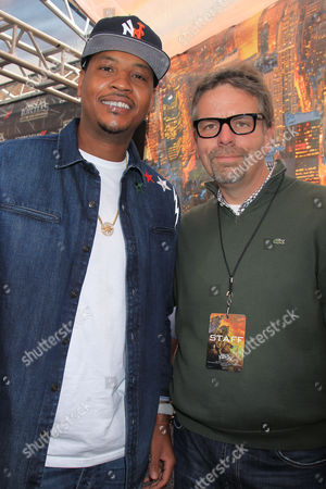 Carmelo Anthony and Marc Evans