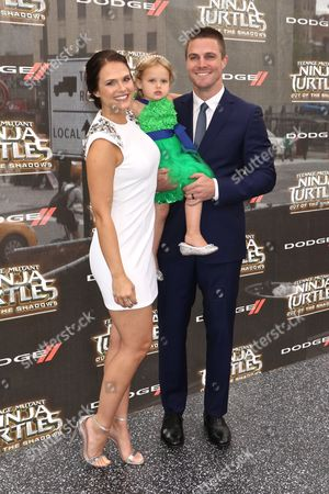 Stephen Amell with wife Cassandra Jean with daughter Mavi