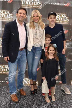 Reid Drescher and Aviva Drescher with their children