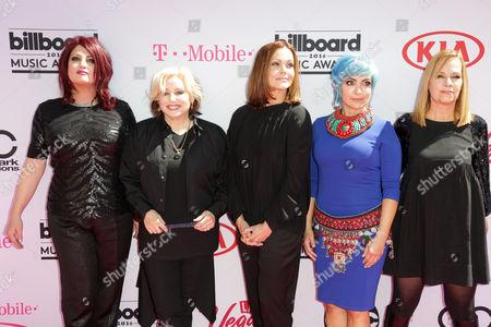 Gina Schock, Belinda Carlisle, Jane Wiedlin and Charlotte Caffey