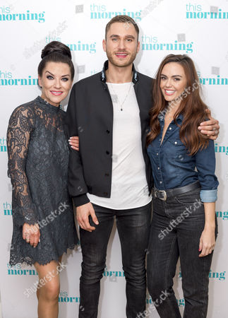 Stock Picture of Jennifer Metcalfe, Zoe Lucker and Charlie Clapham