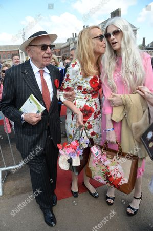 Rupert Murdoch, Jerry Hall, Kristen McMenamy
