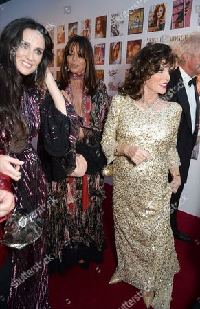 Demi Moore, Countess Debonnaire von Bismarck and Joan Collins