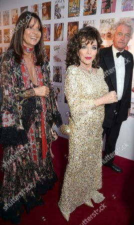 Countess Debonnaire von Bismarck and Joan Collins