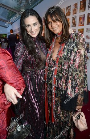 Demi Moore and Countess Debonnaire von Bismarck