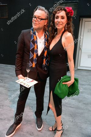 David Downton and Marie Helvin