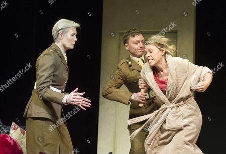 Jane Wymark as Major Dawlish, Joseph Prowen as Private Crawford, Sarah Alexander as Hayley Morrison