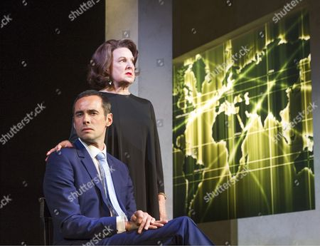 Stock Photo of Ann Mitchell as Ayn Rand, Steve John Shepherd as Gideon