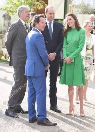 Diarmuid Gavin, Catherine Duchess of Cambridge and Prince William