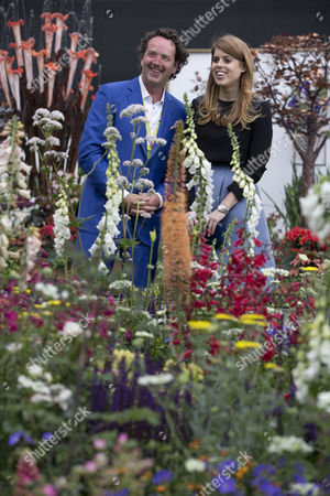 Princess Beatrice visits the English Eccentrics Garden by Diarmuid Gavin at the RHS Chelsea Flower Show 2016