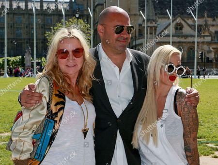 Jodie Marsh, Marc Abraham and Meg Mathews