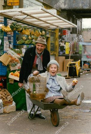 Stock Image of Tv Programme: Eastenders. Peter Dean And Gretchen Franklin Who Appear In The Programme. Box 631 23009156 A.jpg.