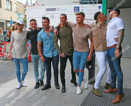 Aaron Chalmers, Nathan Henry, Scotty T, Marty McKenna, James Tindale and Dan Thomas-Tuck of Geordie Shore