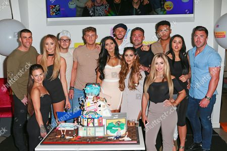 Charlotte Crosby, Holly Hagan, Chloe Etherington, Chantelle Connelly, Marnie Simpson, Sophie Kasaei Aaron Chalmers, Nathan Henry, Scotty T, Marty McKenna, James Tindale and Dan Thomas-Tuck of Geordie Shore