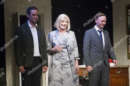 Steve John Shepherd (Cast), Jane Wymark (Cast) and Joseph Prowen (Cast) during the curtain call