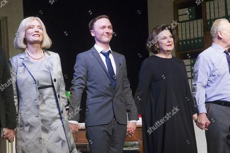 Jane Wymark (Cast), Joseph Prowen (Cast) and Ann Mitchell (Cast) during the curtain call